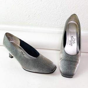Vintage PM Collection 925 Silver Pumps Heels 6.5